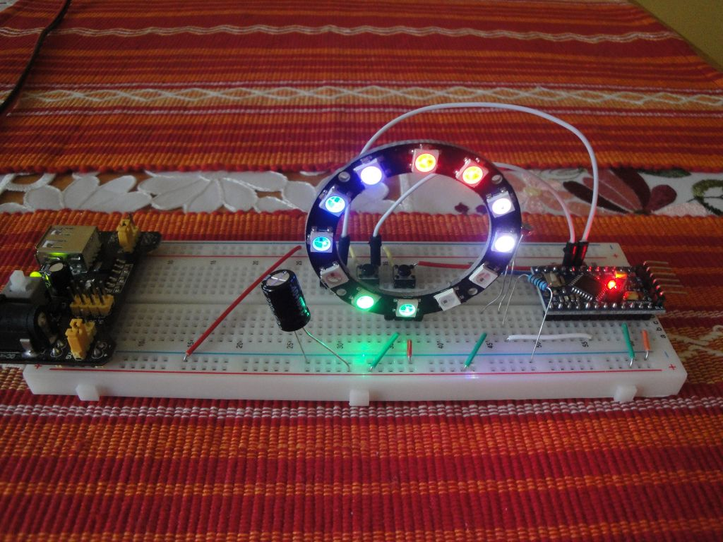 Arduino Slovakia Neopixel Ring Clock Real Time Ds1307 Circuit We Will Use Ic Which Contains In Itself Need Only A Few External Components