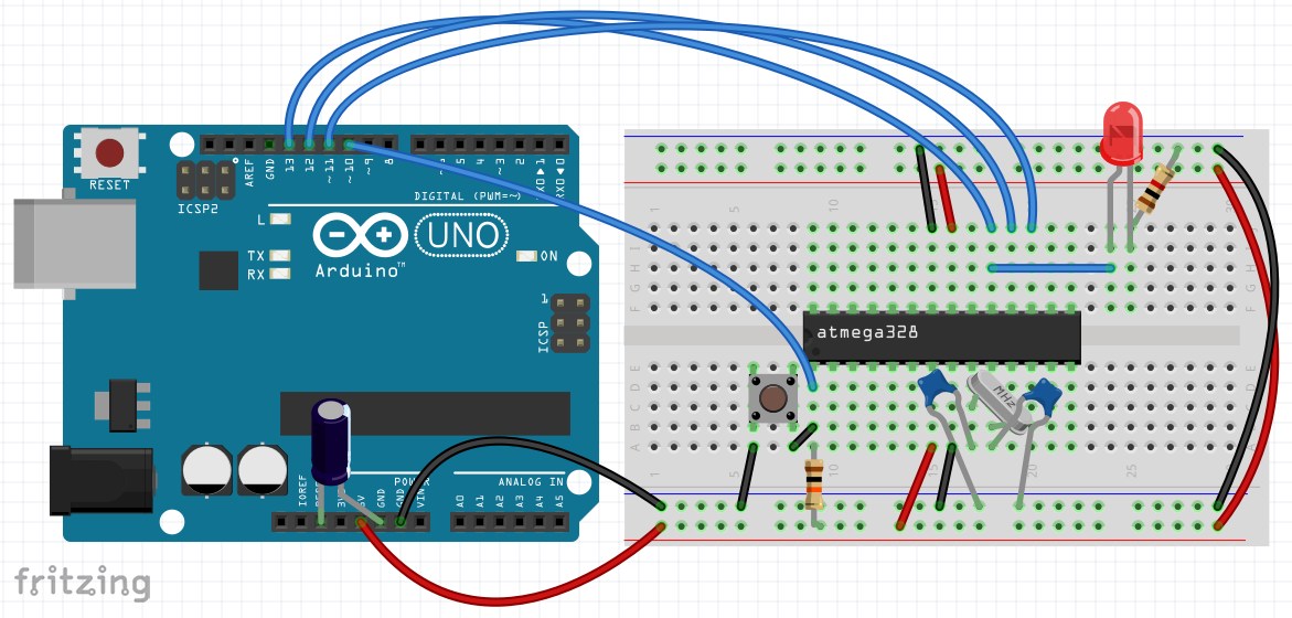 Arduino UNO as ISP programmer