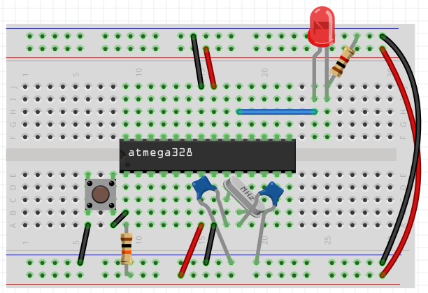 ATmega328P on a breadboard - final