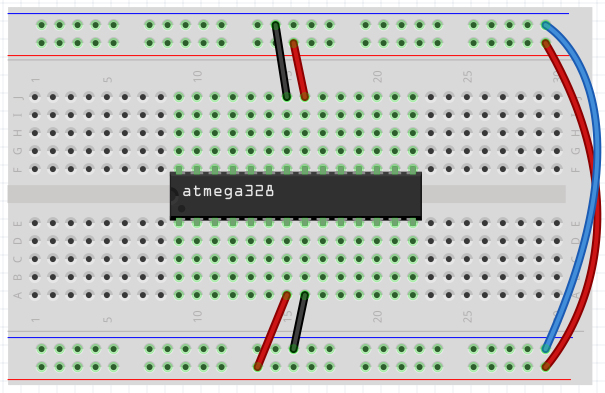ATmega328P power wires