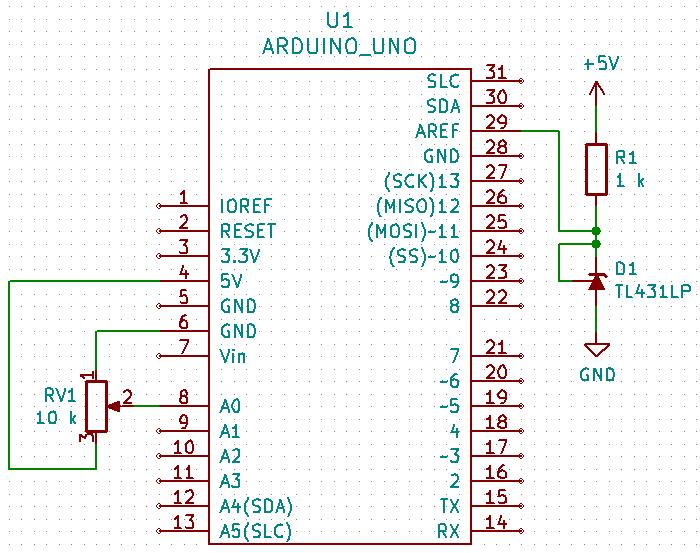 Arduino Slovakia - A/D converter - TL431 external voltage
