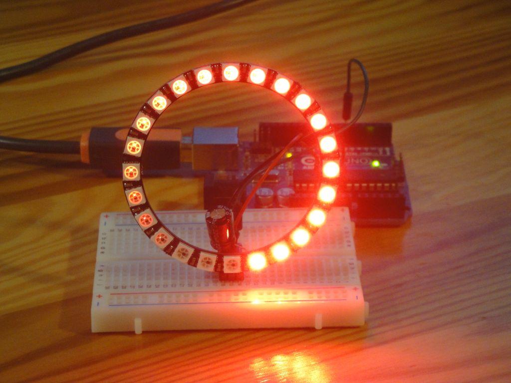 Arduino Slovakia - NeoPixel Ring HSV rotating circles